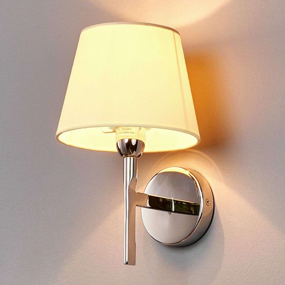Antje Fabric Wall Light with Round Shade-9612022-31