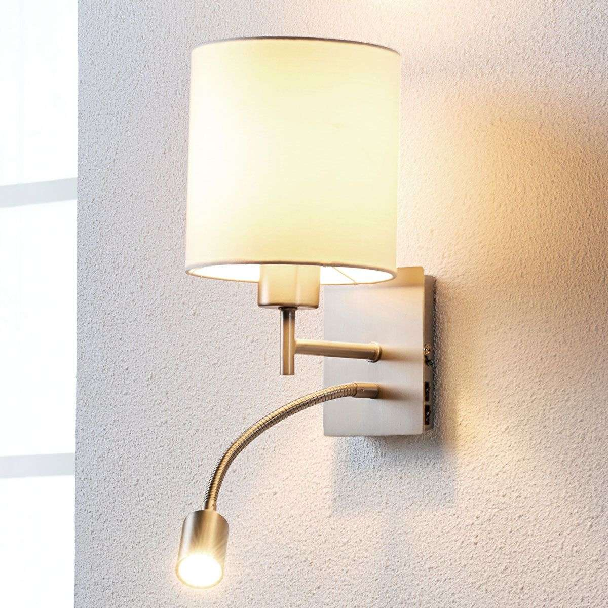 Attractive fabric wall lamp camilo w reading light lights attractive fabric wall lamp camilo w reading light aloadofball Image collections