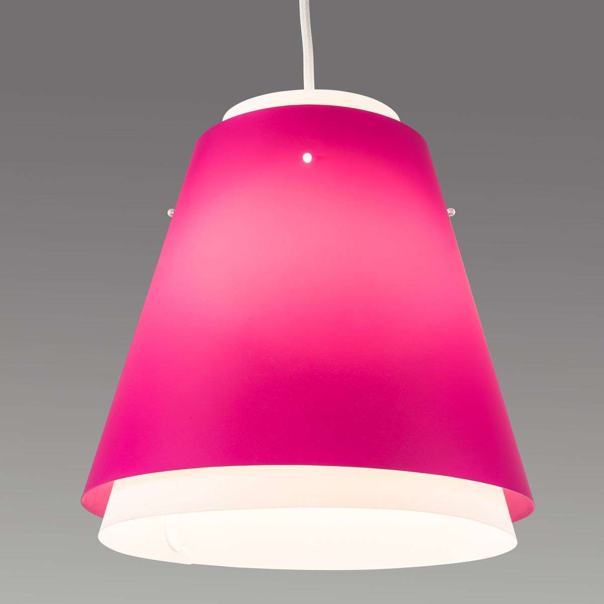 Bell colourful hanging light in magenta-7007587-32
