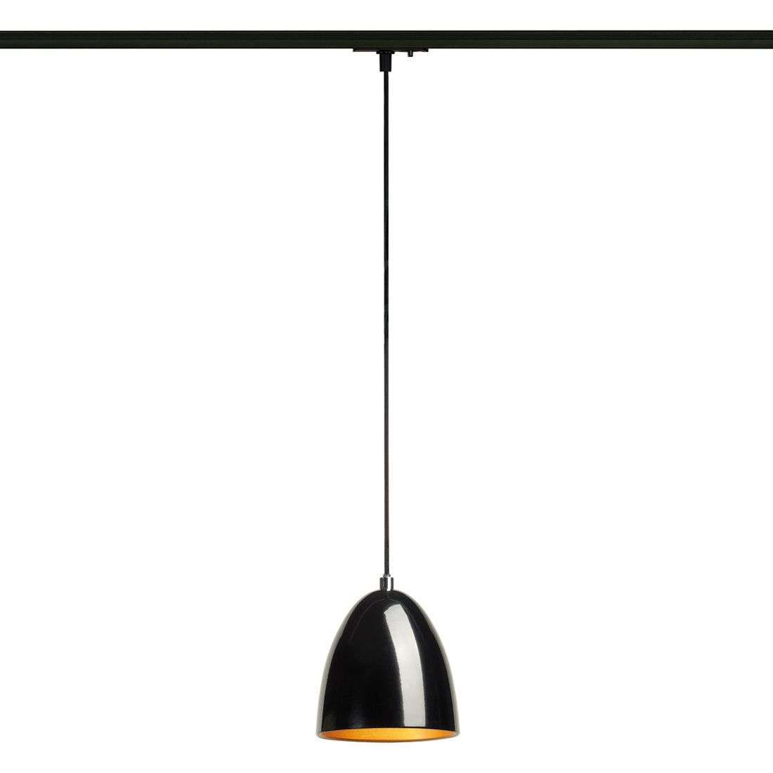 hanging pendants track. Black-gold Para Cone Hanging Lamp 1-circuit Tracks-5504690-31 Pendants Track