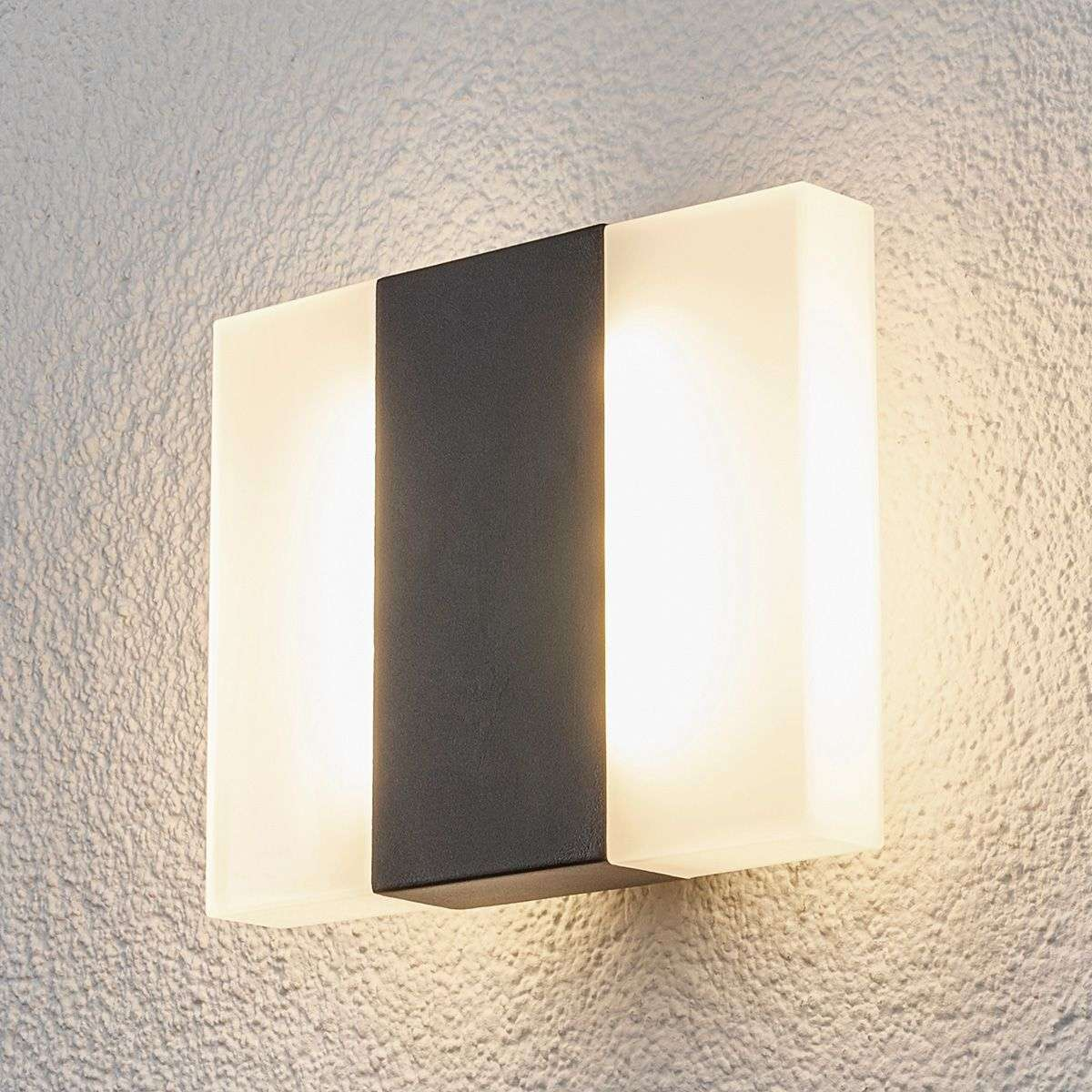 All Square Wall Lights : Borje - LED outdoor wall light in a square shape Lights.co.uk