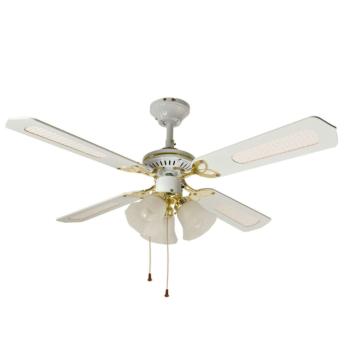 Calice ceiling fan 3 bulb white lights calice ceiling fan 3 bulb white aloadofball Choice Image