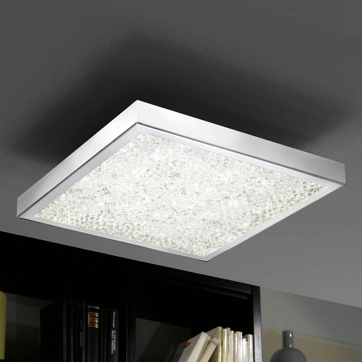 Cardito 47 crystal rgb led ceiling lamp for Moderne led deckenlampen