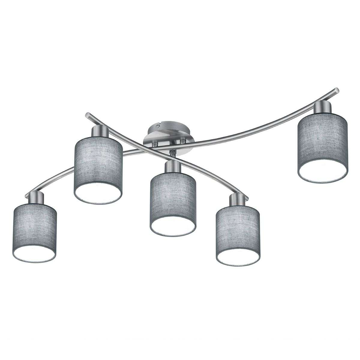 Ceiling light garda five bulb with grey lampshades lights ceiling light garda five bulb with grey lampshades 9005335 31 aloadofball Gallery
