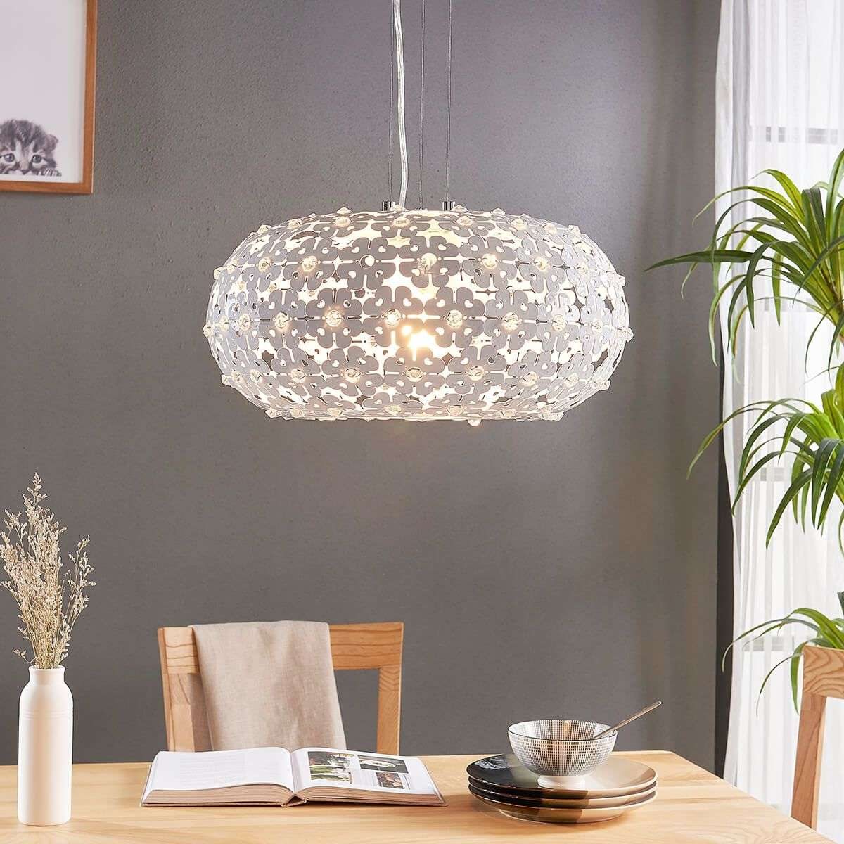 Chara pendant light with a floral design lights chara pendant light with a floral design 9621179 32 aloadofball Choice Image