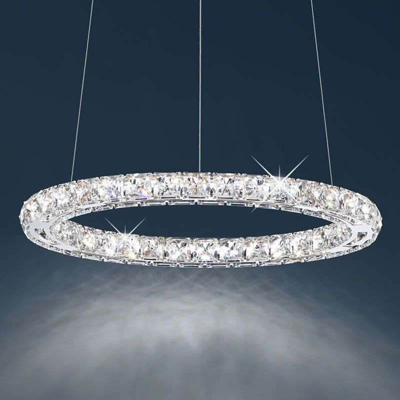 Circle LED Hanging Light W/ Swarovski Crystals 8578020 35