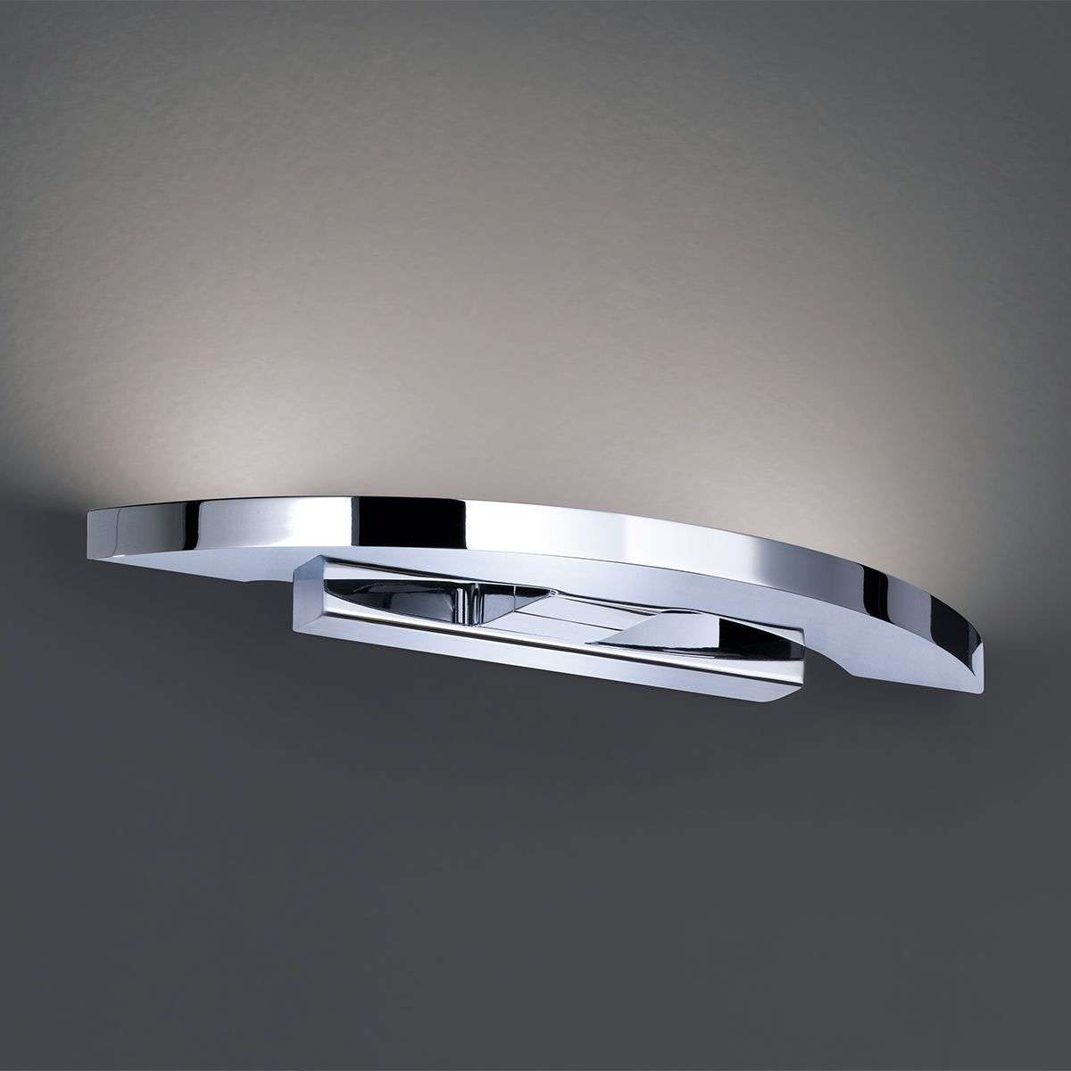 Clareo Glossy Chrome Led Wall Light Lights Co Uk
