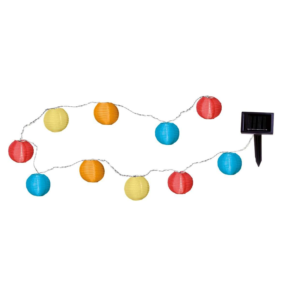 Colourful LED solar string light with 10 lampions-1522130-31