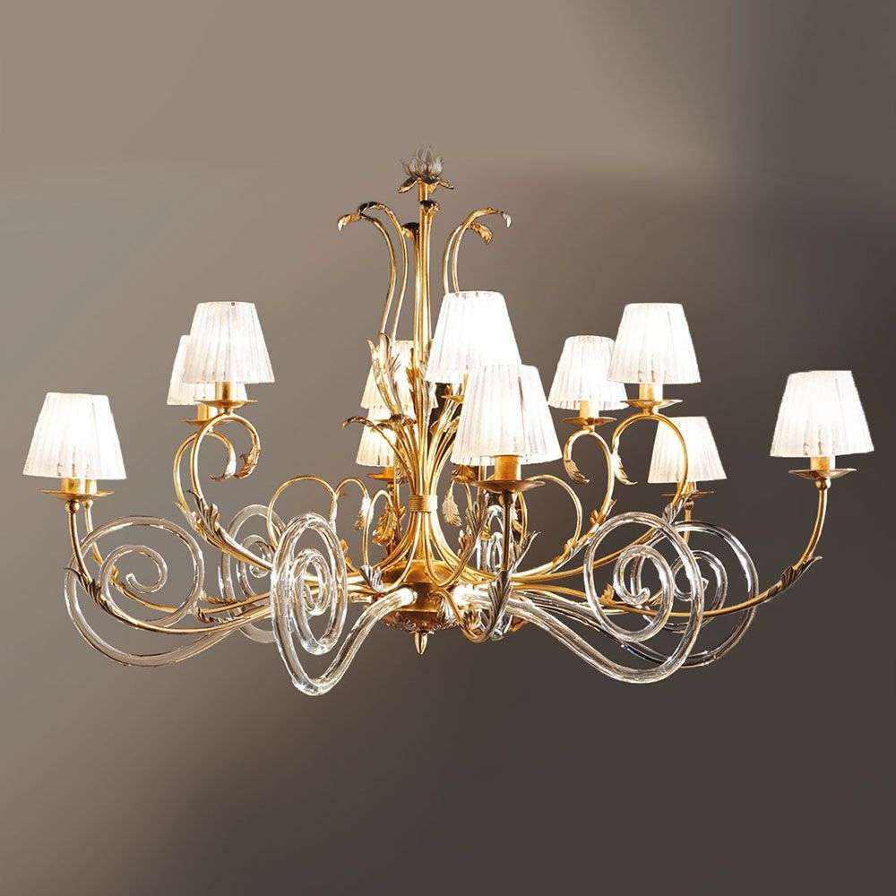 Corinto gold plated chandelier with murano glass lights corinto gold plated chandelier with murano glass 6532078 31 aloadofball Gallery