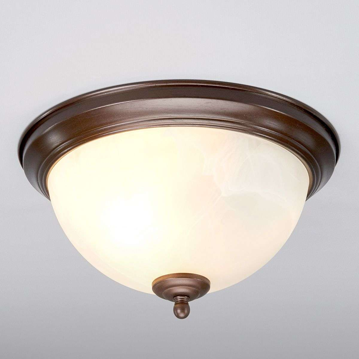 Bathroom Lights Rusting corvin bathroom ceiling light rust-coloured | lights.co.uk