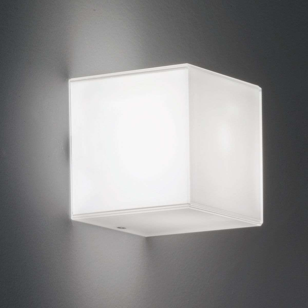 Cube shaped glass wall light compact with leds lights cube shaped glass wall light compact with leds 9010115 31 aloadofball Gallery