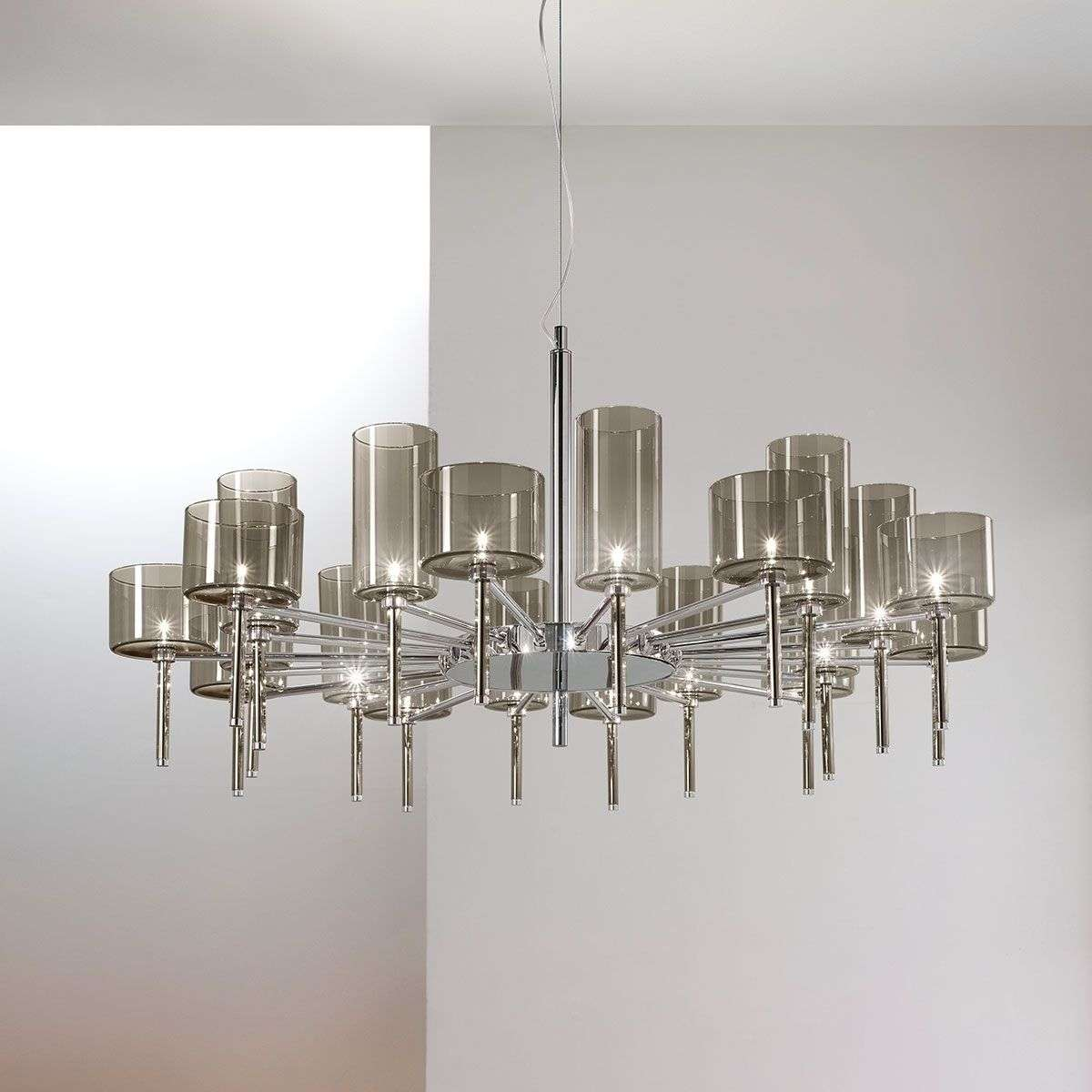 Designer chandelier Spillray with glass shades-1088049-31
