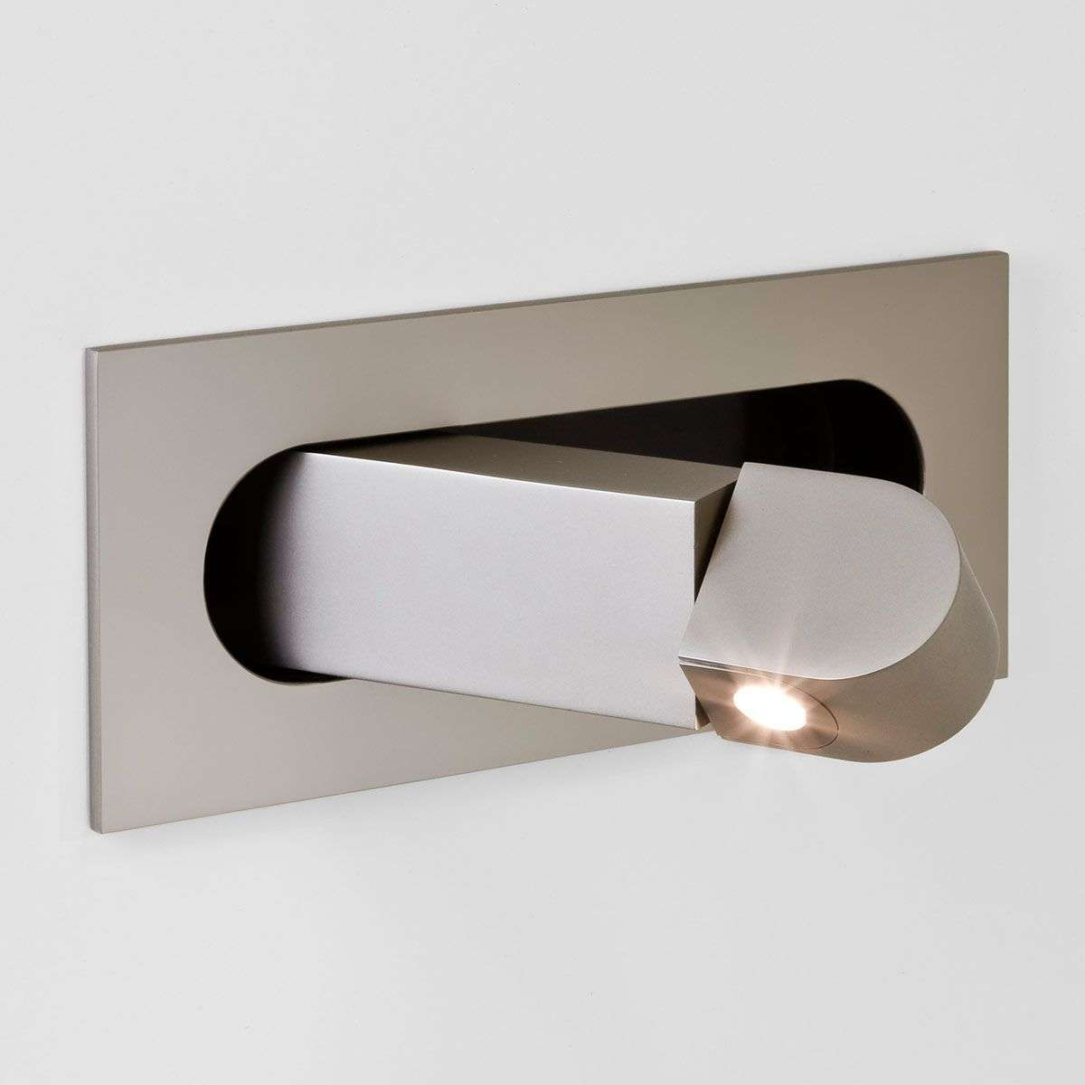 Digit led wall light as reading light nickel for Wall light with reading light