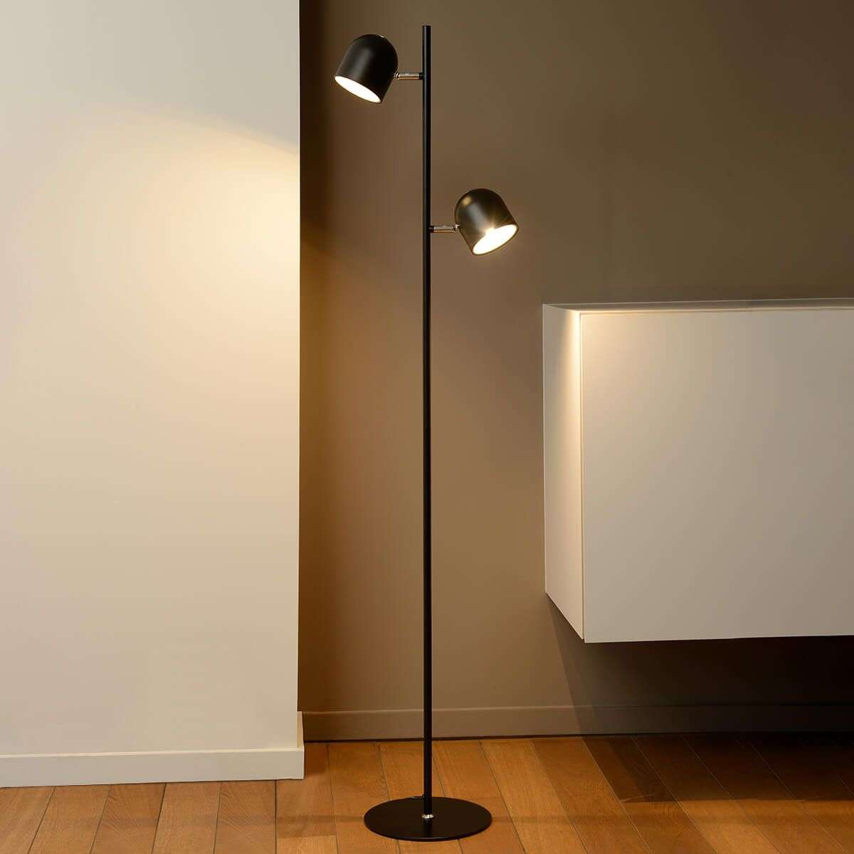 Dimmable led floor lamp skanska in black lights dimmable led floor lamp skanska in black aloadofball Image collections