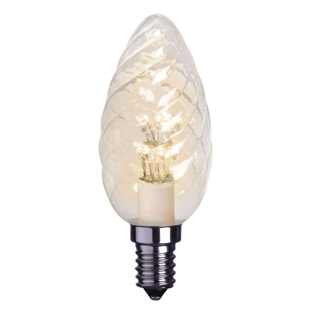 E14 0.9 W clear LED candle bulb twisted-1522106X-31