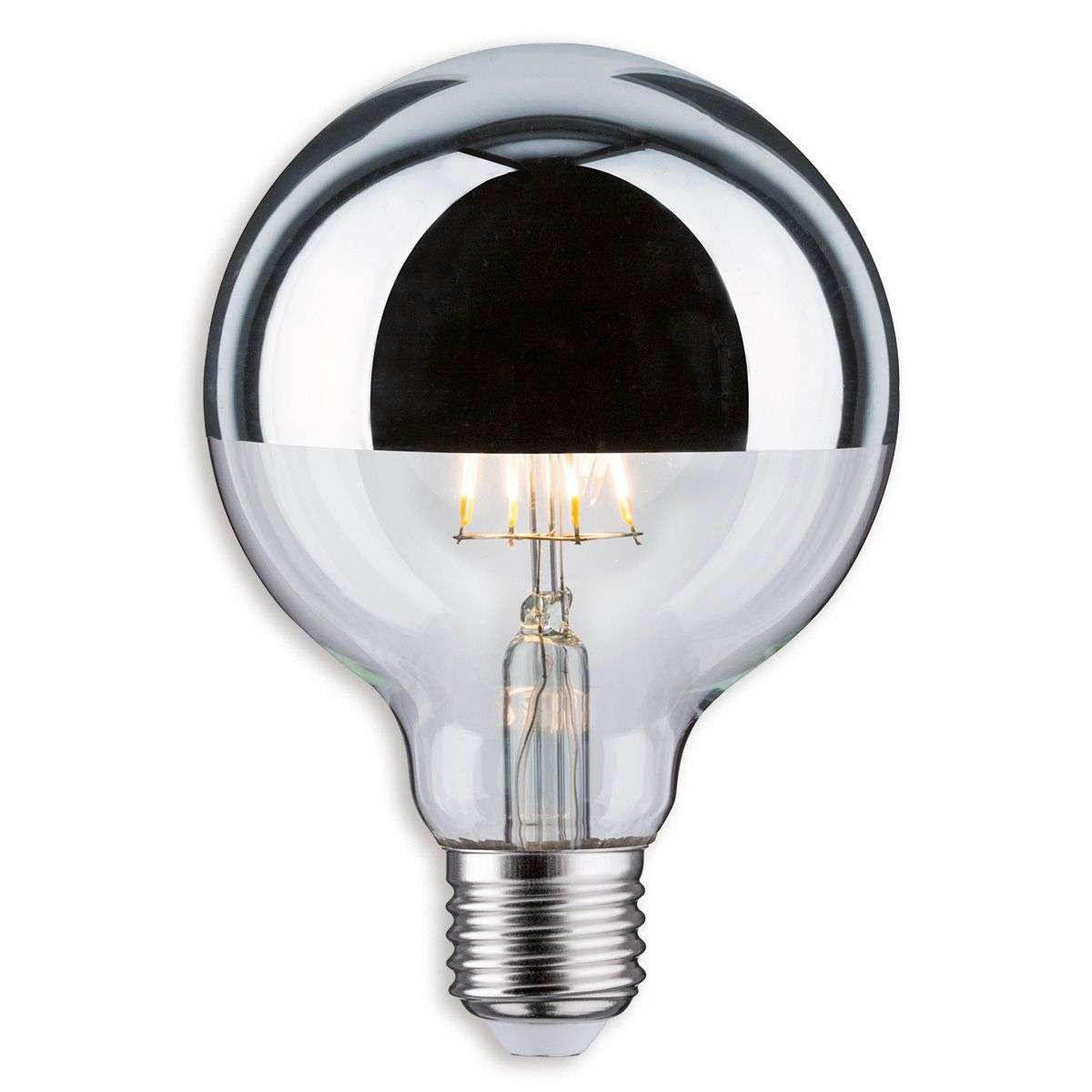e27 5w 827 led half mirror globe bulb g95. Black Bedroom Furniture Sets. Home Design Ideas