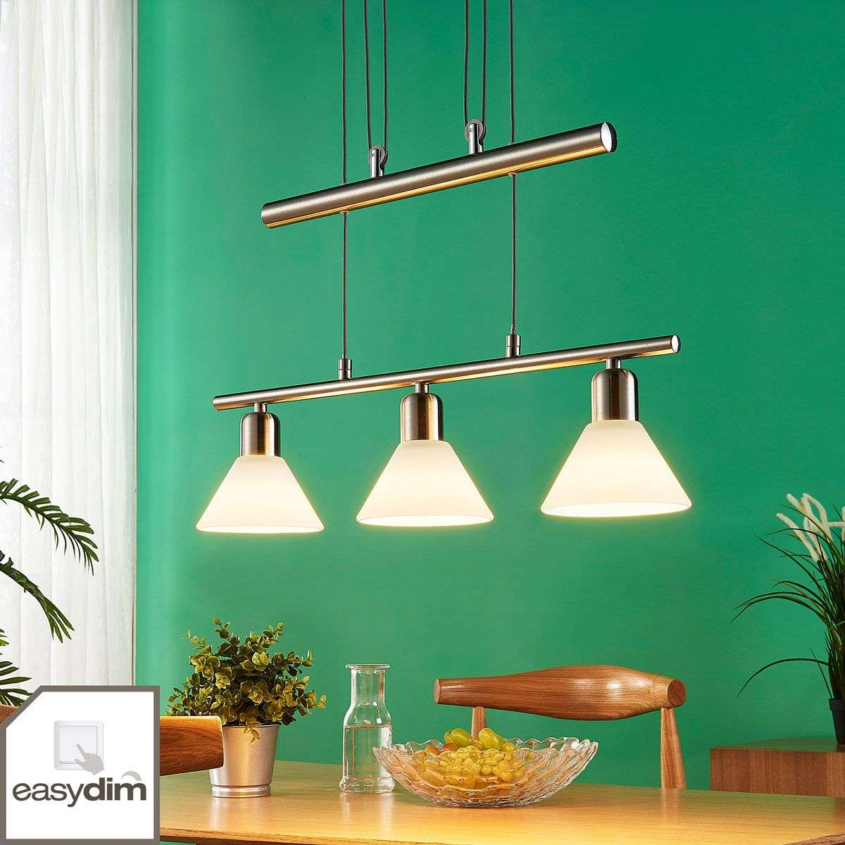 Easydim Dining Table Pendant Light Eleasa With Led
