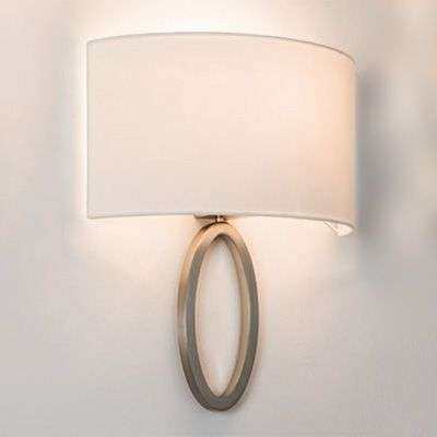 Elegant fabric wall light Lima in white-1020521-31