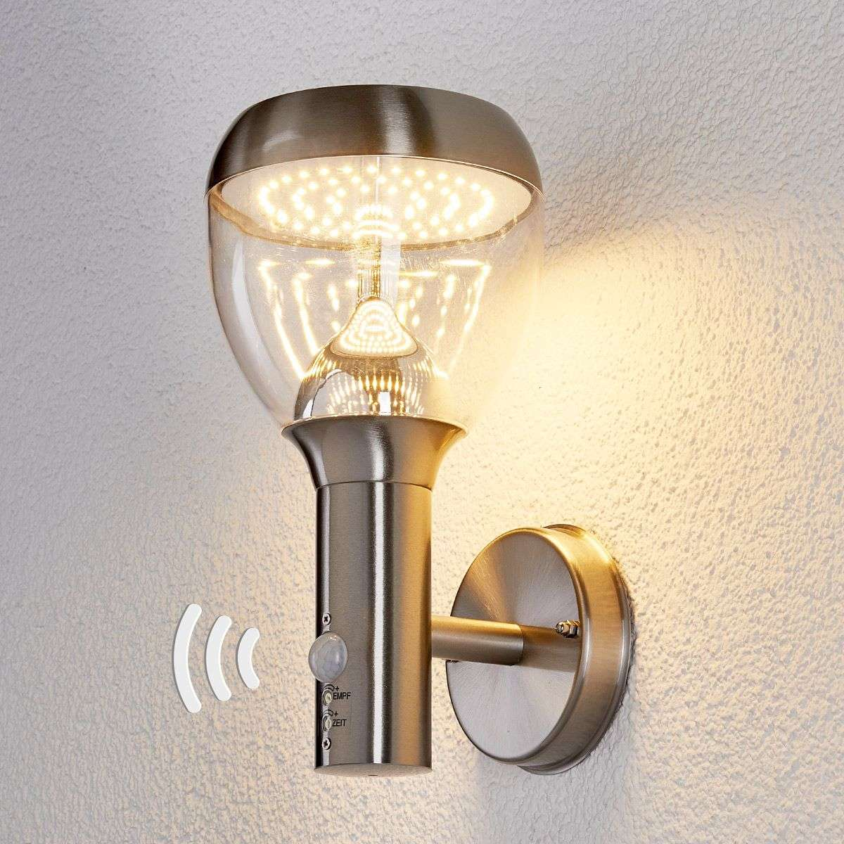 Outside Wall Lights With Sensor : Etta stainless steel sensor outdoor wall light,LED Lights.co.uk