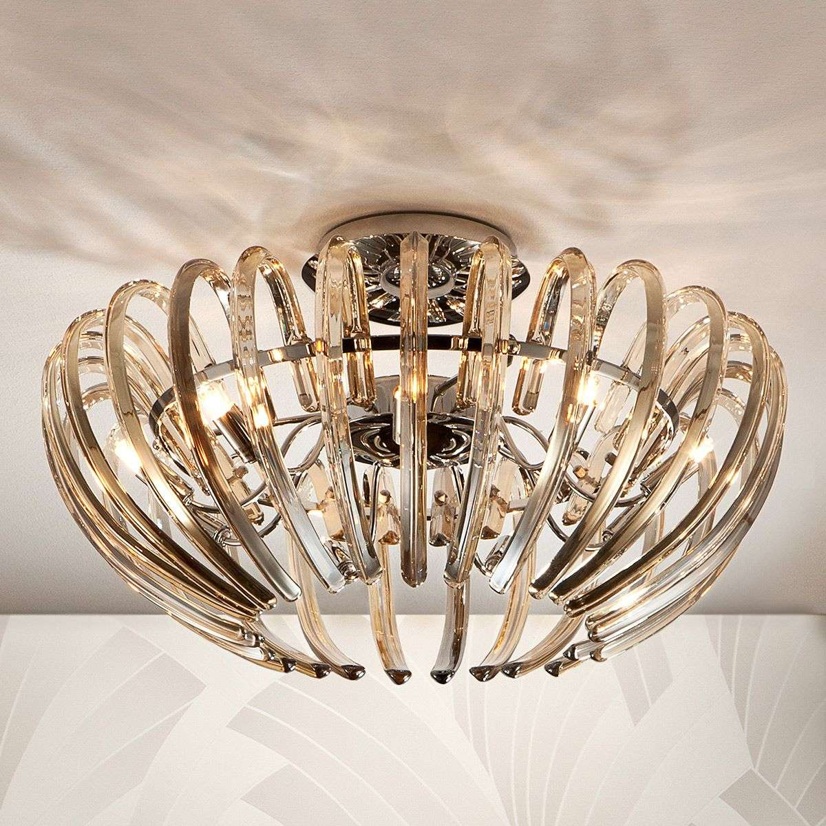 exquisite lighting. exquisite crystal ceiling light ariadna champagne858217431 lighting e
