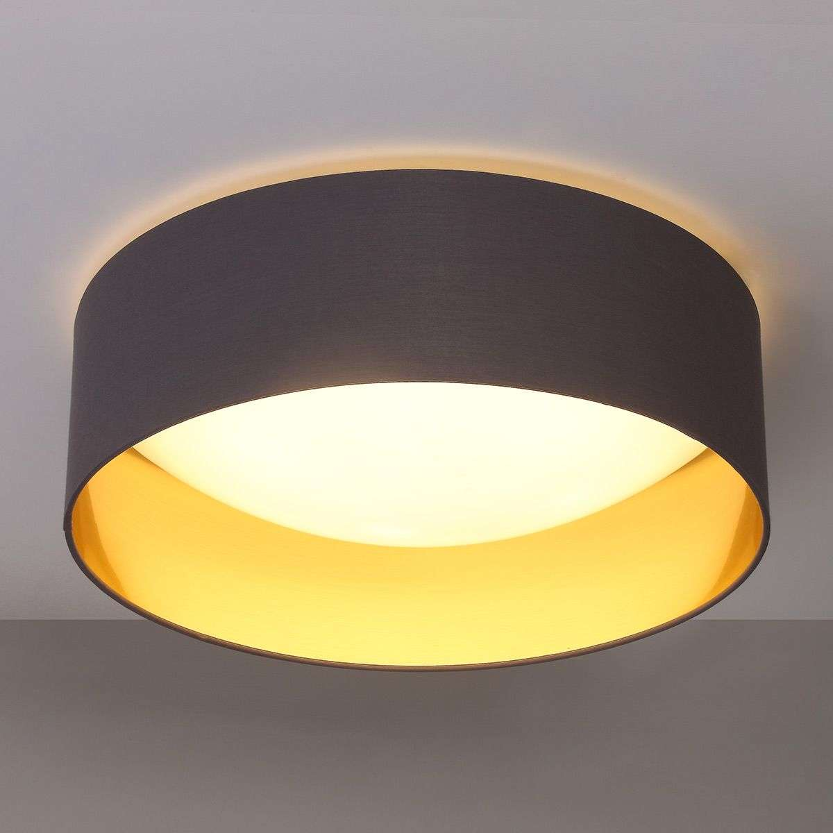 Fabric ceiling light coleen in grey gold inside lights fabric ceiling light coleen in grey gold inside aloadofball Choice Image