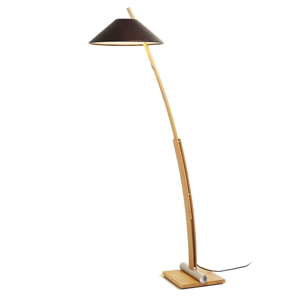 Floor lamp bow with touch dimmer lights floor lamp bow beechleather 2600051 31 aloadofball Images