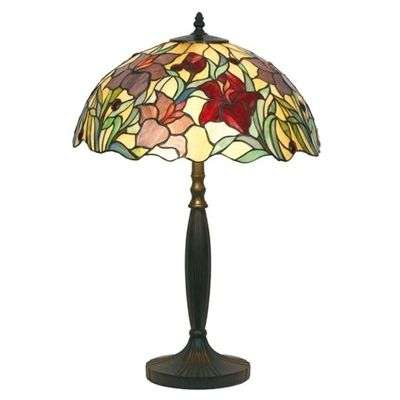 Floral table lamp ATHINA, handmade, 62 cm-1032138-31