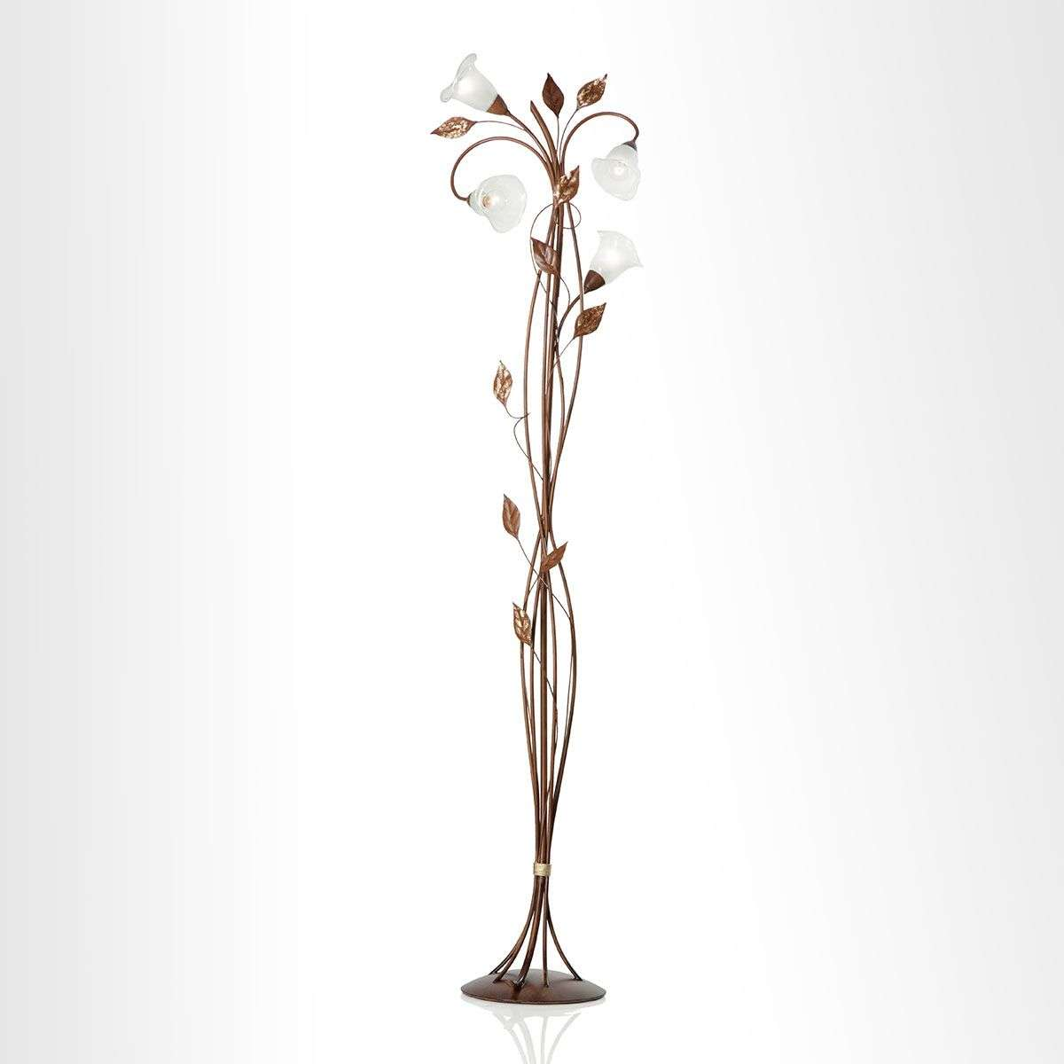 Florentia floor lamp with Murano glass flowers | Lights.co.uk