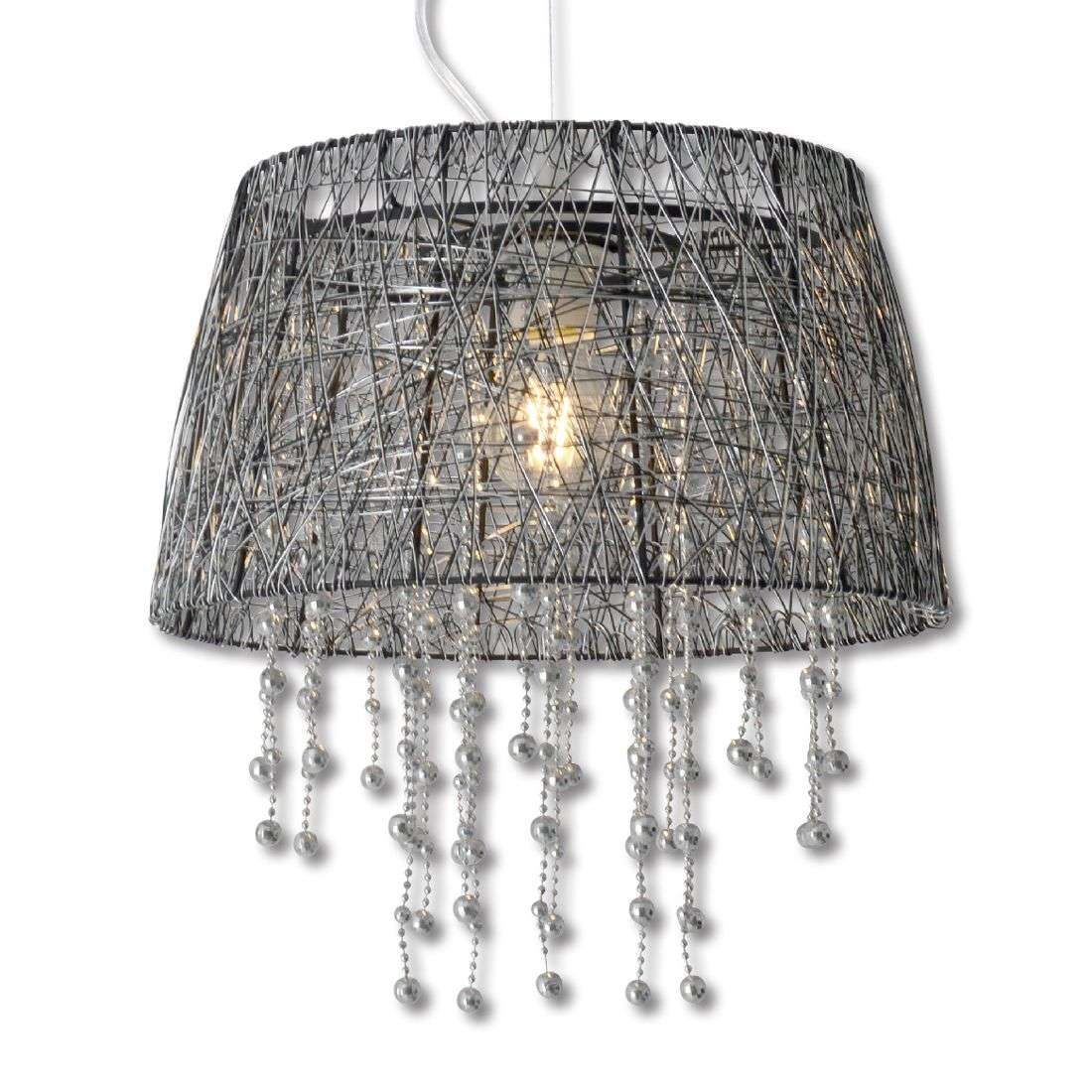 Wire Pendant Light Frizzy Pendant Light With Black Wire Lampshade Lightscouk