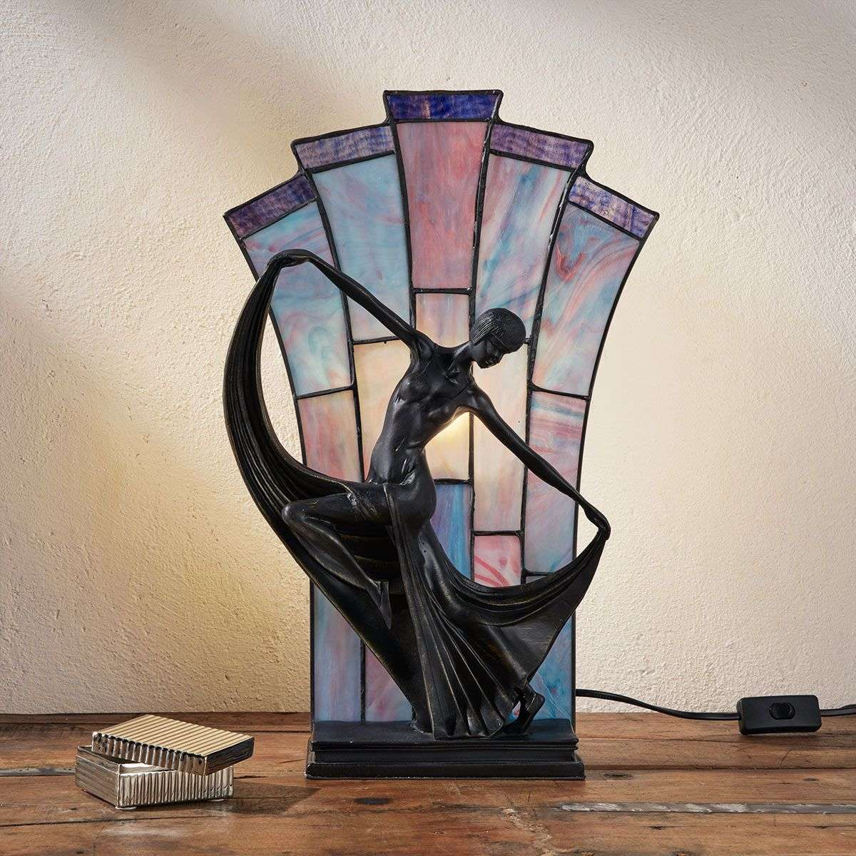 Graceful table lamp Flamina, Tiffany style-1032282-31