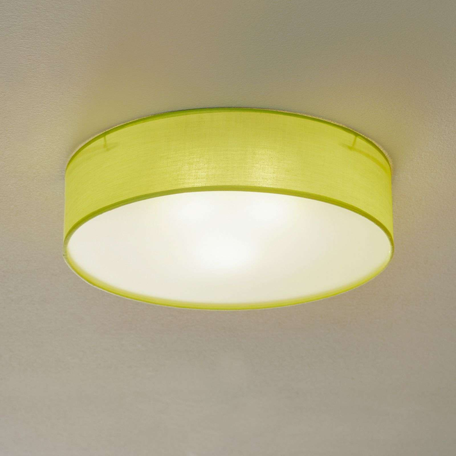 Green fabric ceiling light jitendra lights green fabric ceiling light jitendra aloadofball Image collections