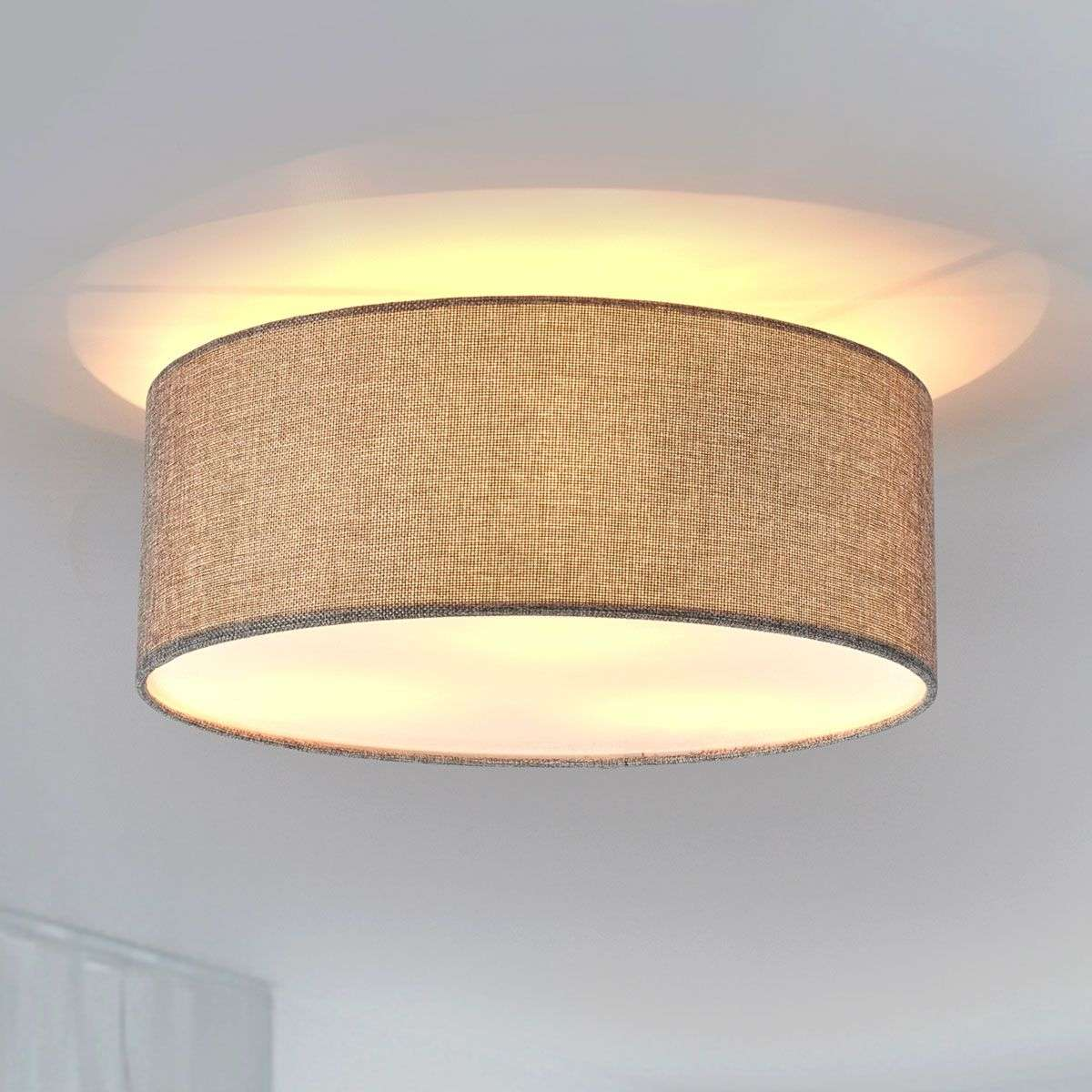 Henrika ceiling light made from grey fabric lights henrika ceiling light made from grey fabric 4018018 38 mozeypictures Choice Image
