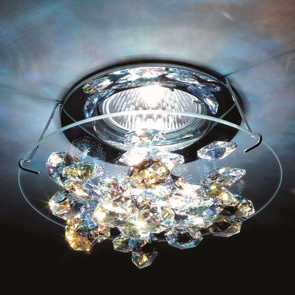 Ice crystal recessed ceiling light in chrome lights ice crystal recessed ceiling light in chrome 8578079 31 aloadofball Images