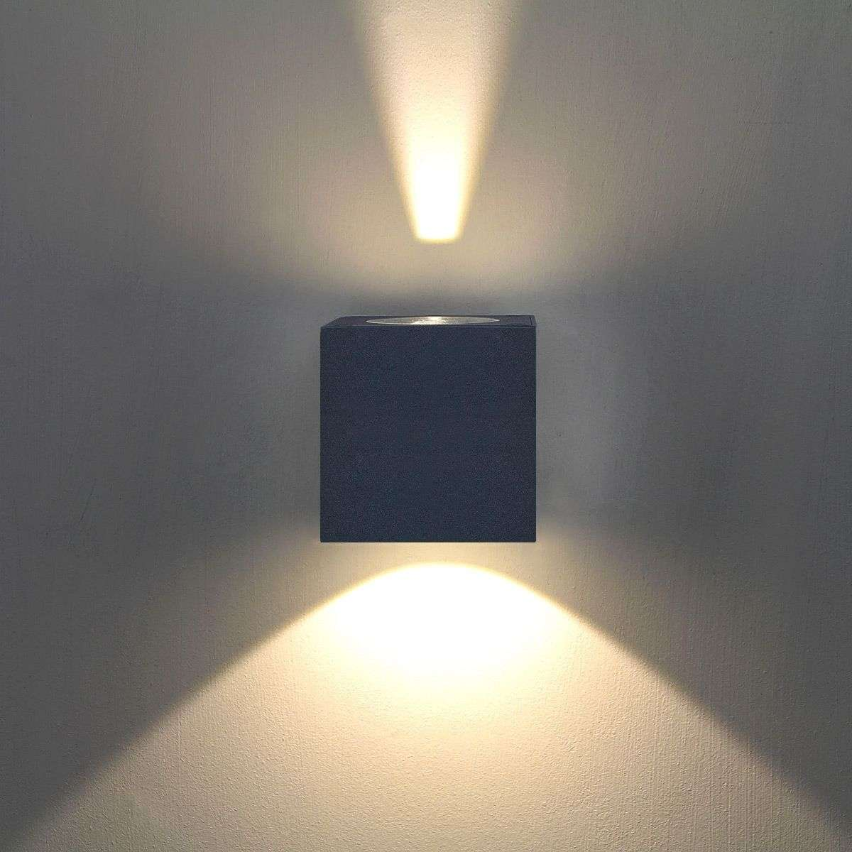 jarno led outdoor wall light graphite. Black Bedroom Furniture Sets. Home Design Ideas