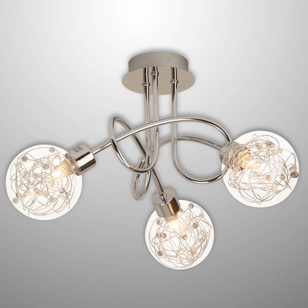 Joya 3-bulb ceiling light with glass lampshades-1509046-31
