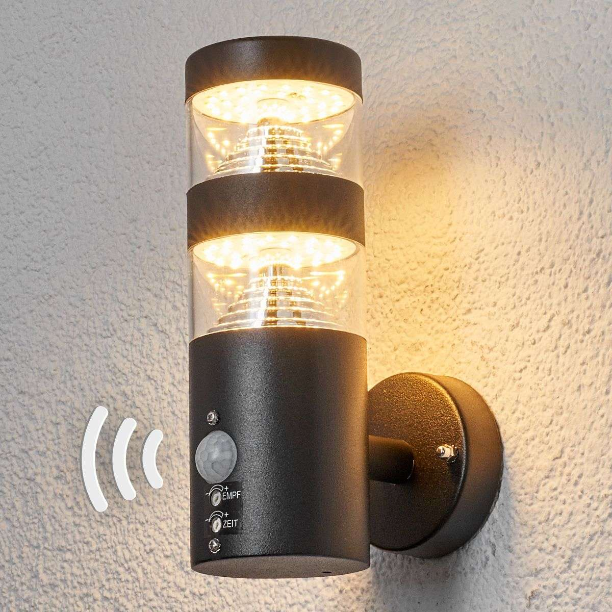 Lanea sensor outdoor wall light with led lights lanea sensor outdoor wall light with led aloadofball Images