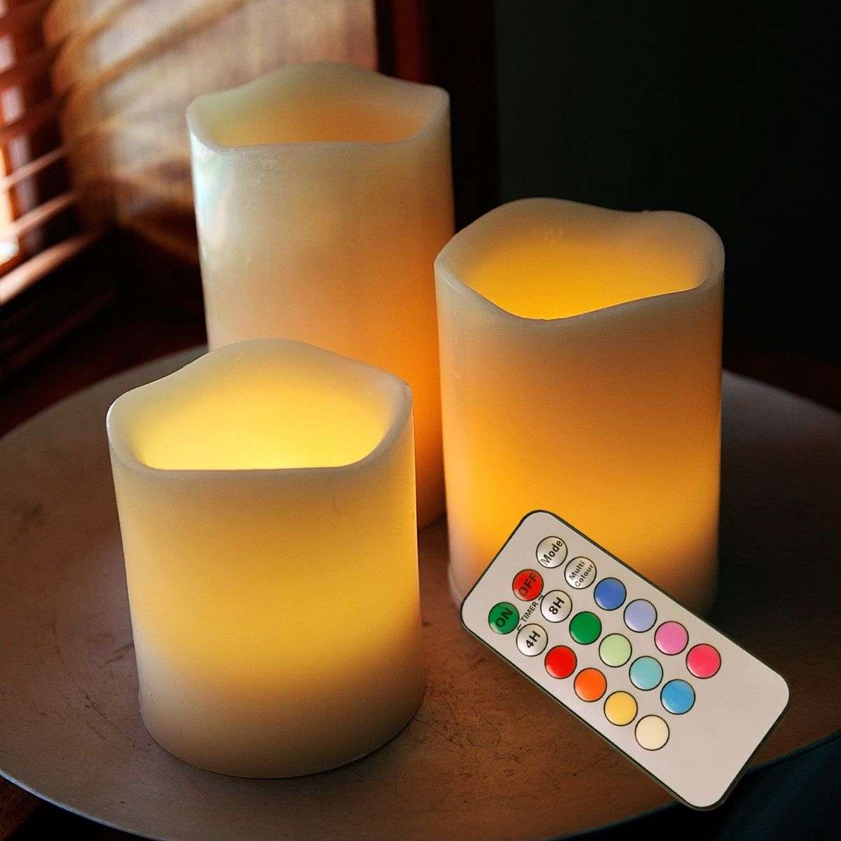 LED candle Wax, RGB colour change, remote control-1522390-31