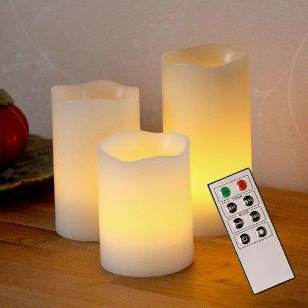 LED decorative candle Wax made of wax-1522391-31