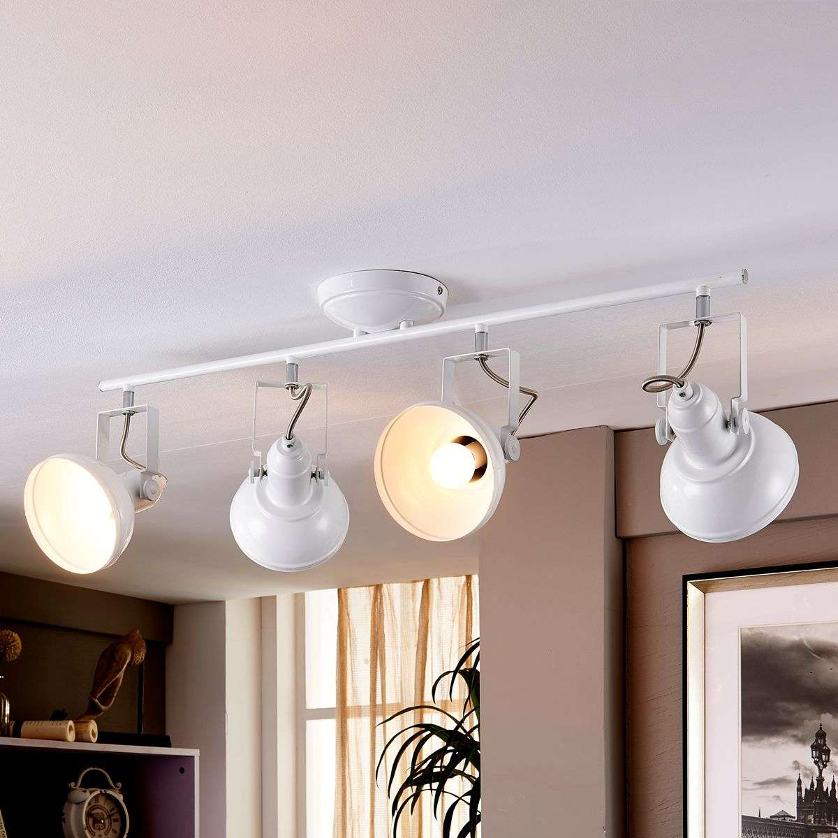 led kitchen lamp tameo with white lampshades lights co uk