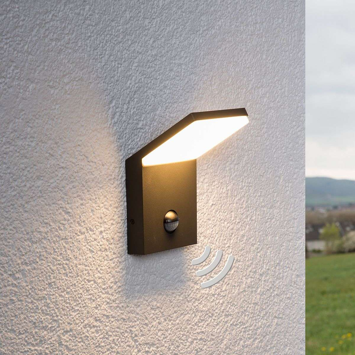 Led outdoor wall light nevio with motion detector lights led outdoor wall light nevio with motion detector aloadofball Gallery