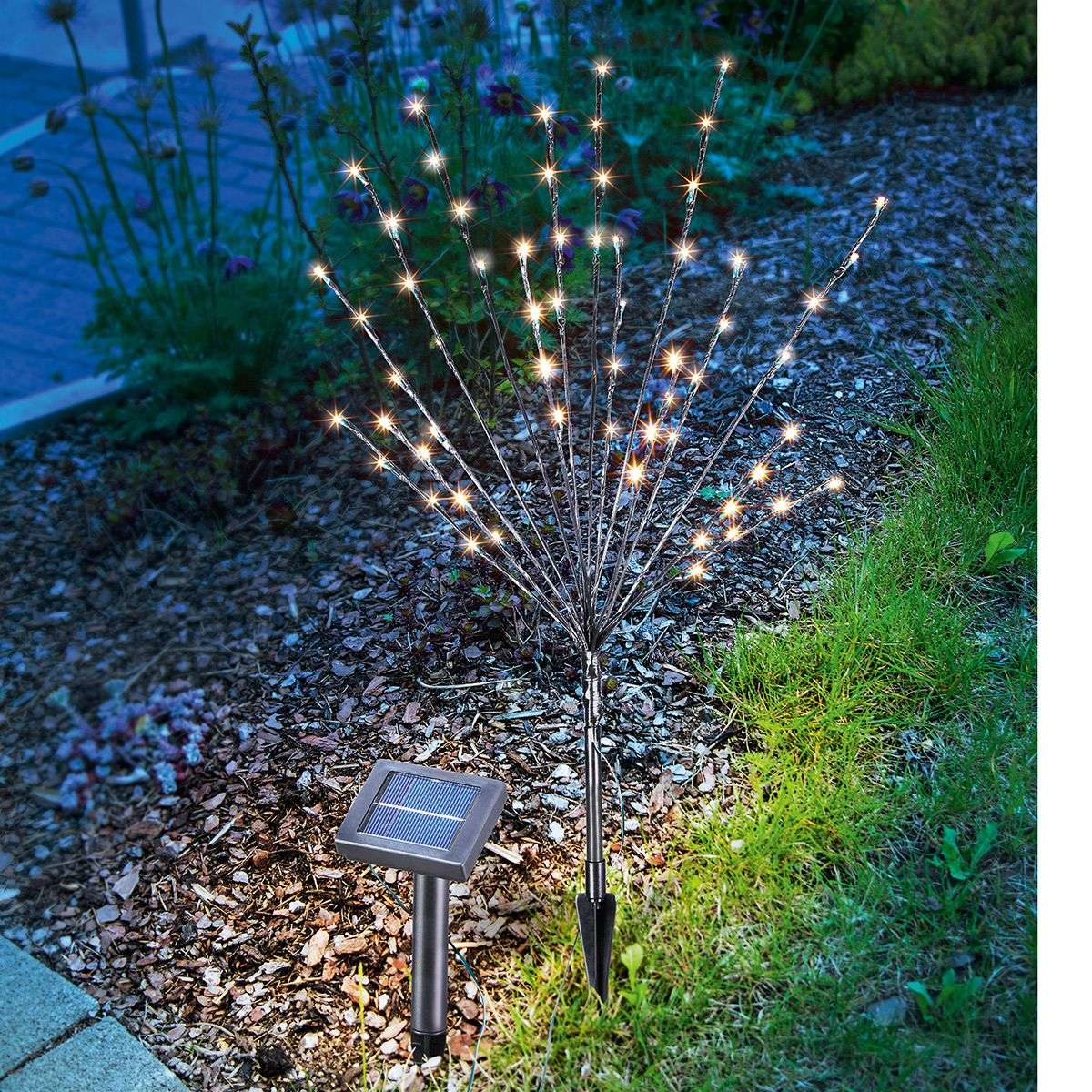 Led solar outdoor decorative light light bush for Outdoor decorative lights