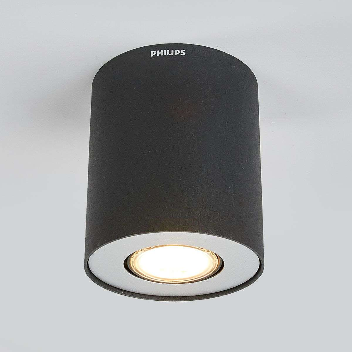 Led Surface Mounted Spotlight Pillar Black Lights Co Uk