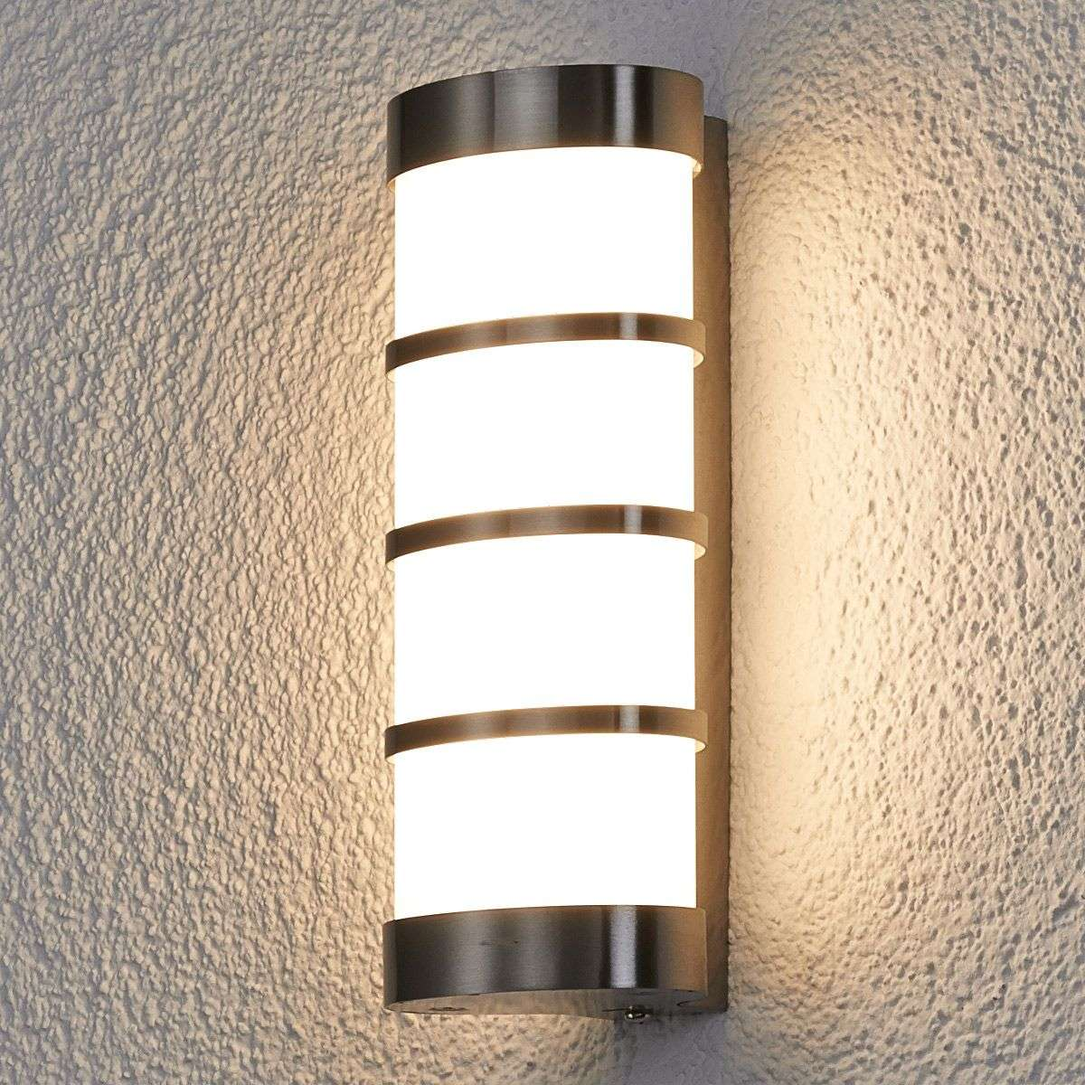 Leroy stainless led exterior wall lamp lights leroy stainless led exterior wall lamp mozeypictures Image collections