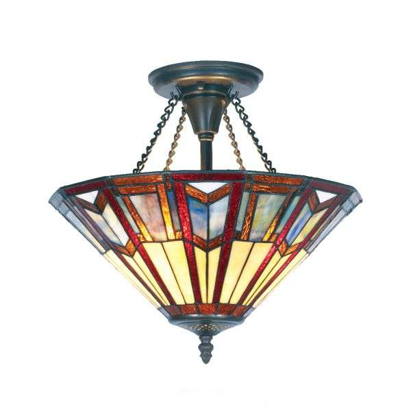 LILLIE Tiffany-style ceiling light-1032190-31
