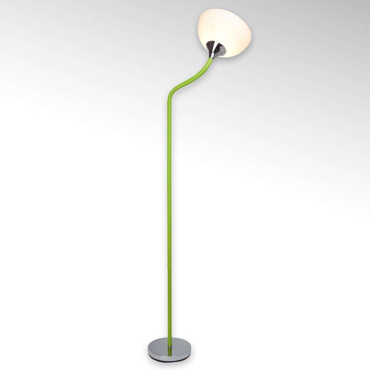 Lucie floor lamp, green-coloured frame-1509004-31
