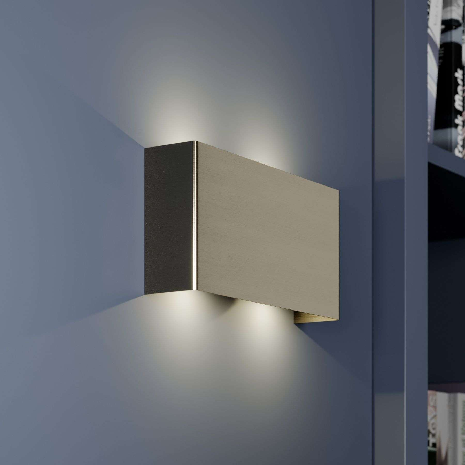 White Dimmable Wall Lights : Maja - dimmable LED wall light 22cm Lights.co.uk