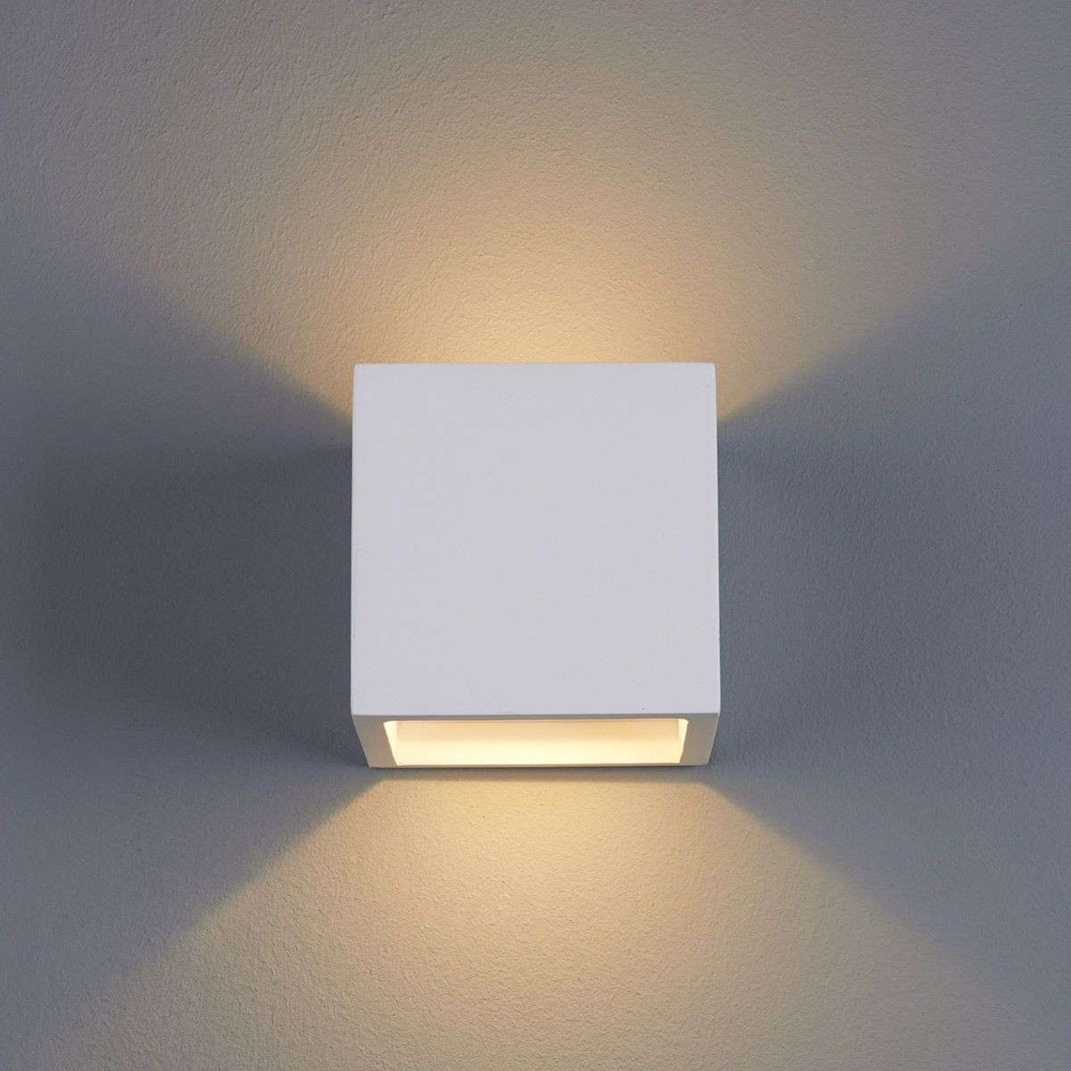 Marita led wall light cube shaped plaster lights marita led wall light cube shaped plaster aloadofball Image collections