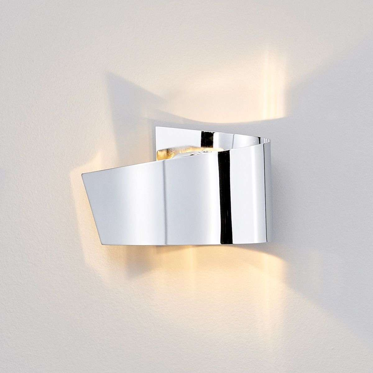 Megan led wall light chrome attractive - Badezimmer wandlampe ...