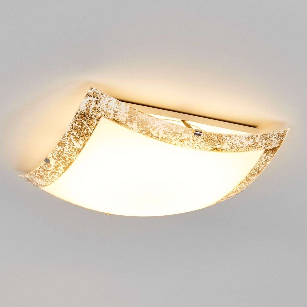 Mirella LED ceiling light with a gold border-9625035-31