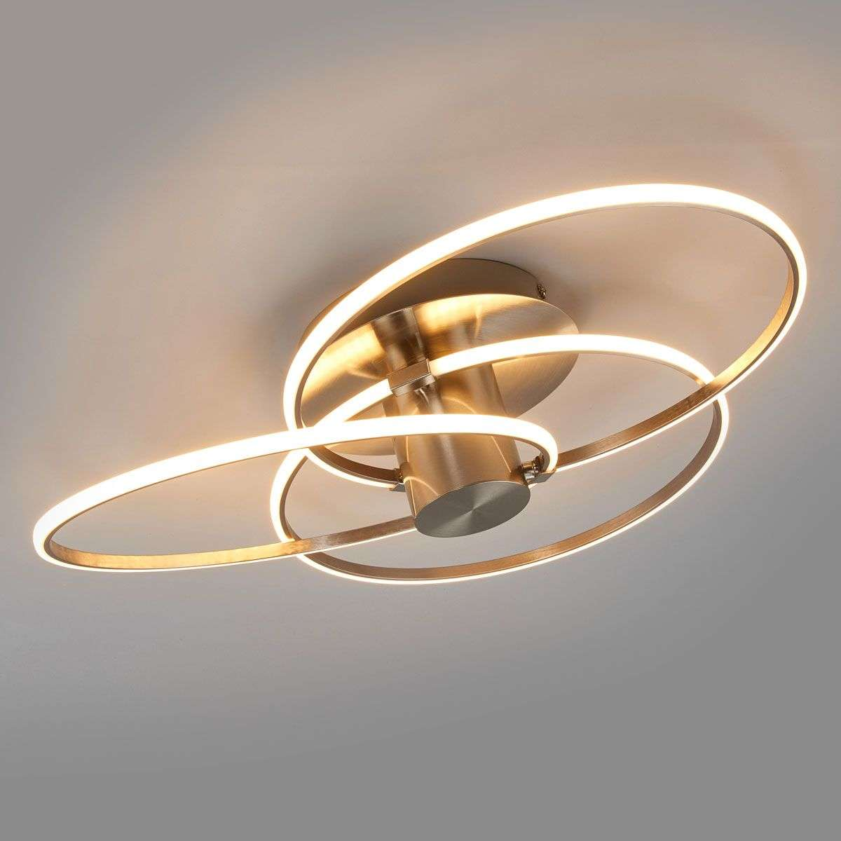 Modern LED ceiling light Antoni, 3 rings